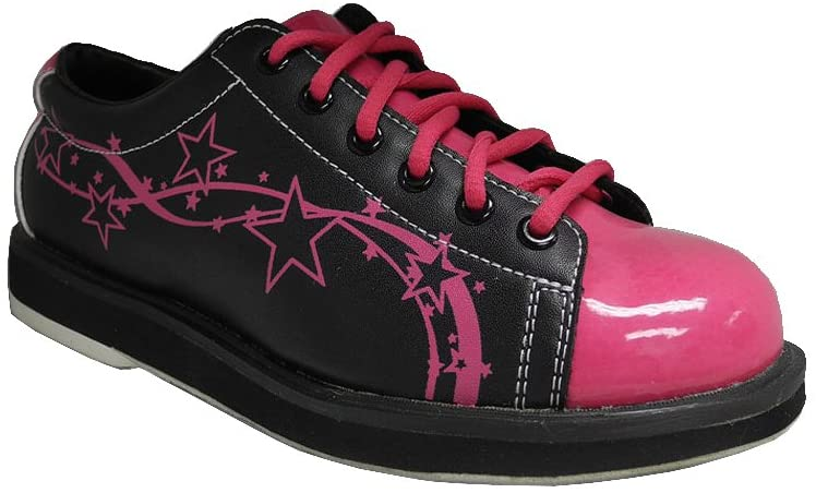 PYRAMID WOMEN'S RISE BLACK/HOT PINK BOWLING SHOES