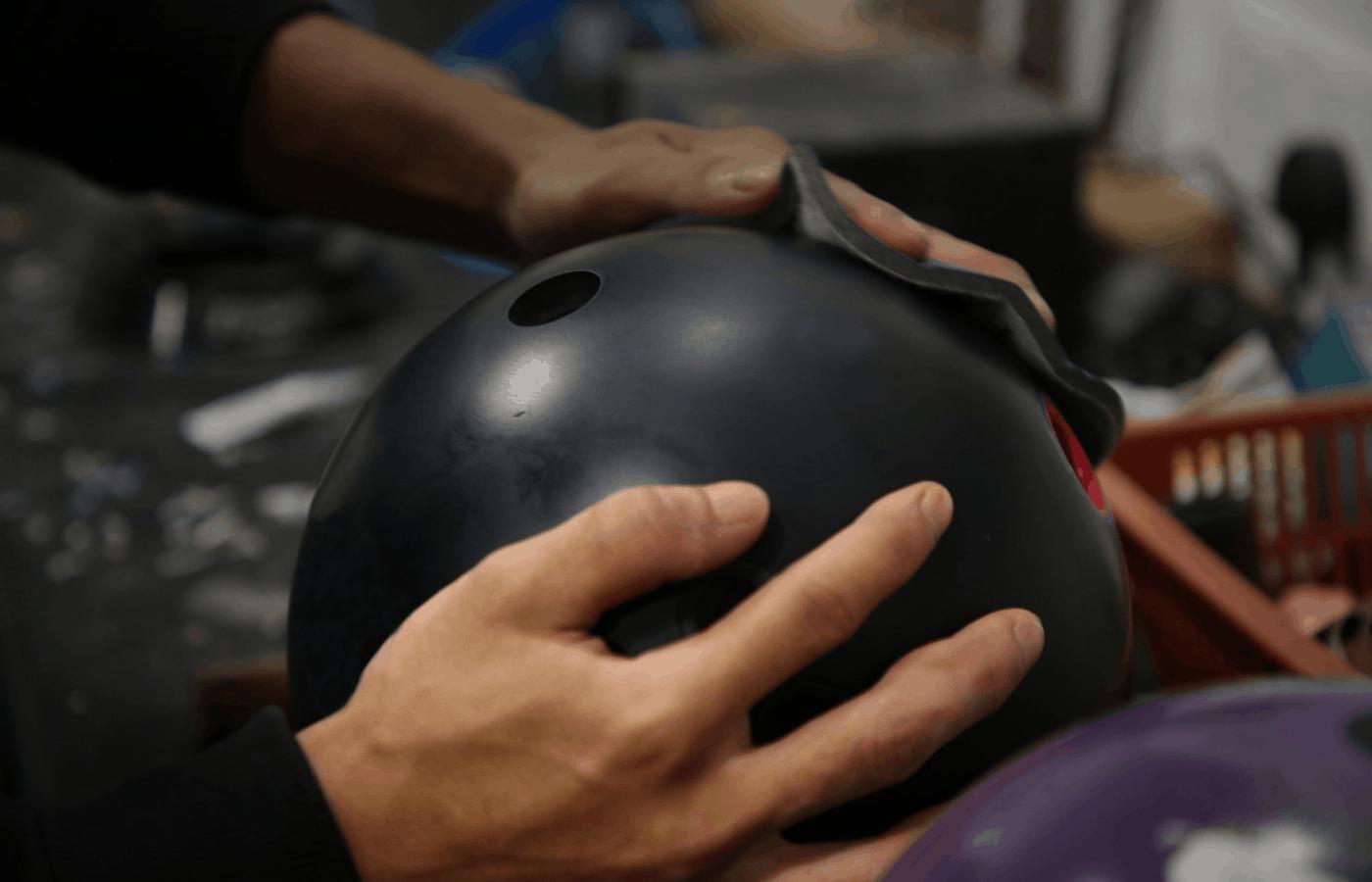 clean bowling ball